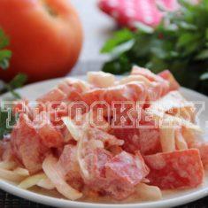 салат из помидоров с майонезом