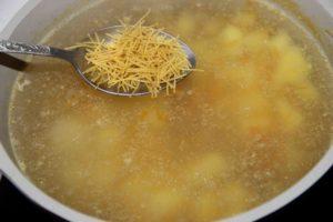 Вермишелевый суп с индейкой