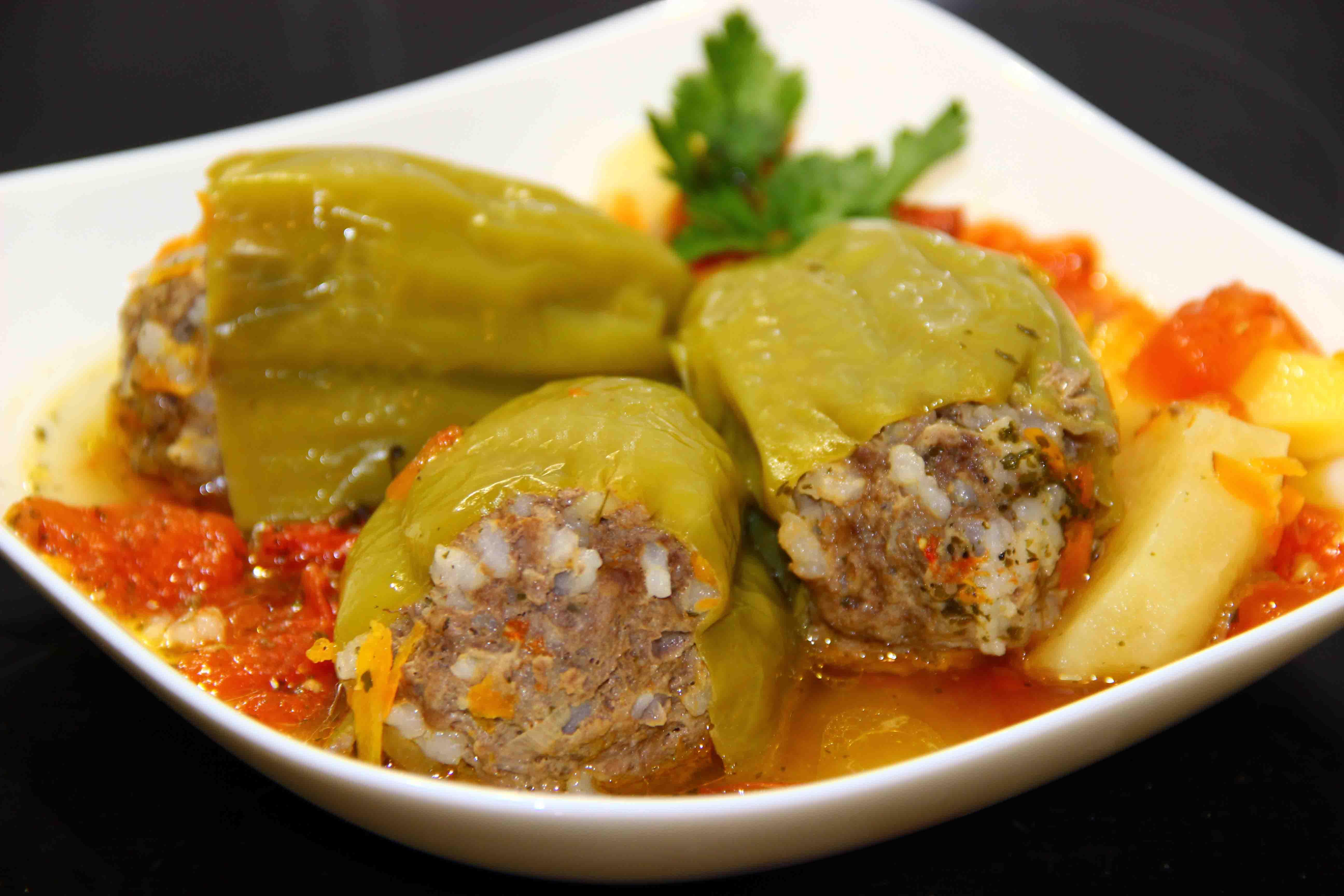 Рецепт перца фаршированного овощами пошагово в