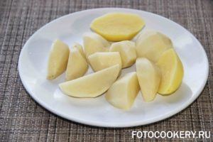 картофель крупно