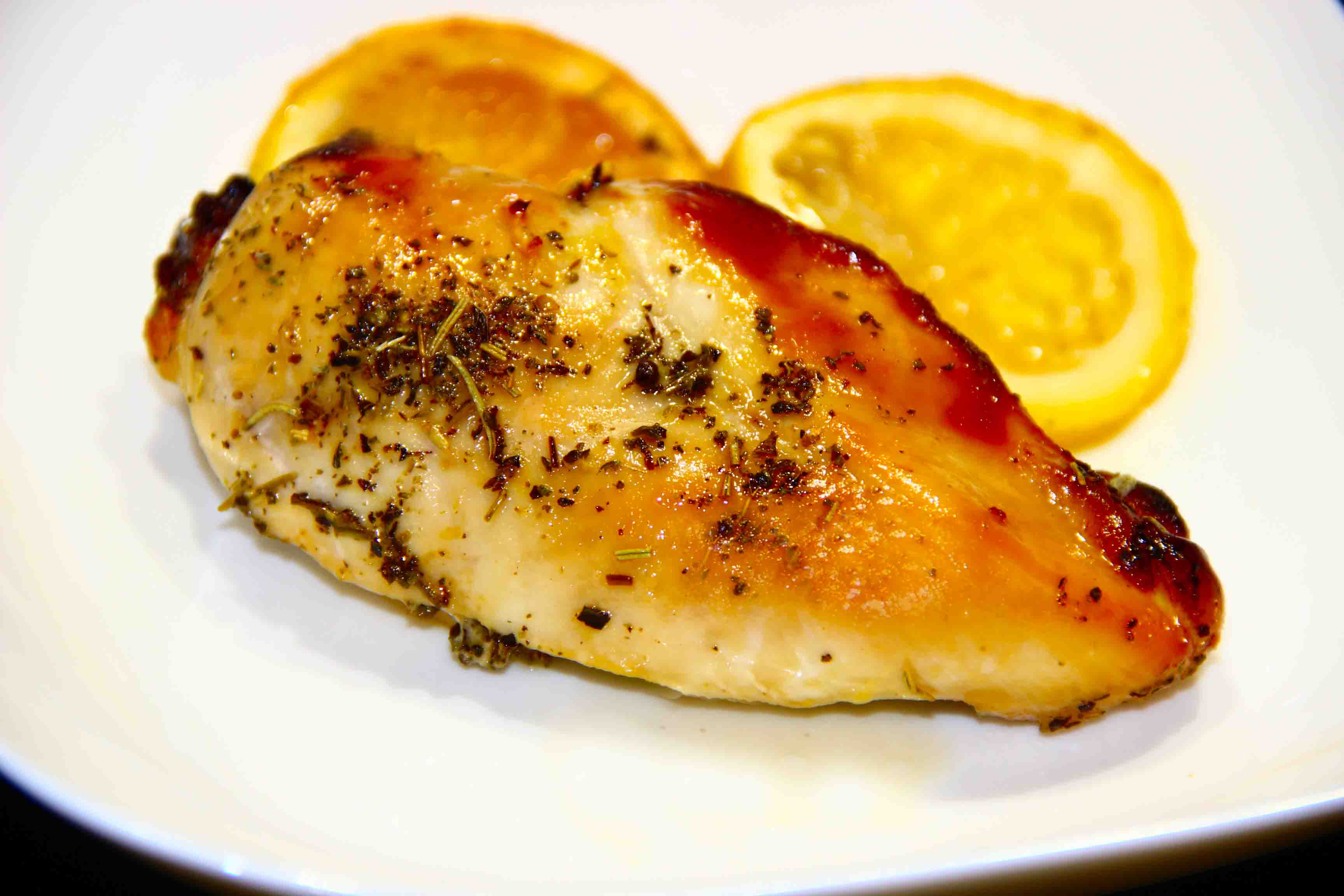 Куриные грудки в медово-лимонном соусе