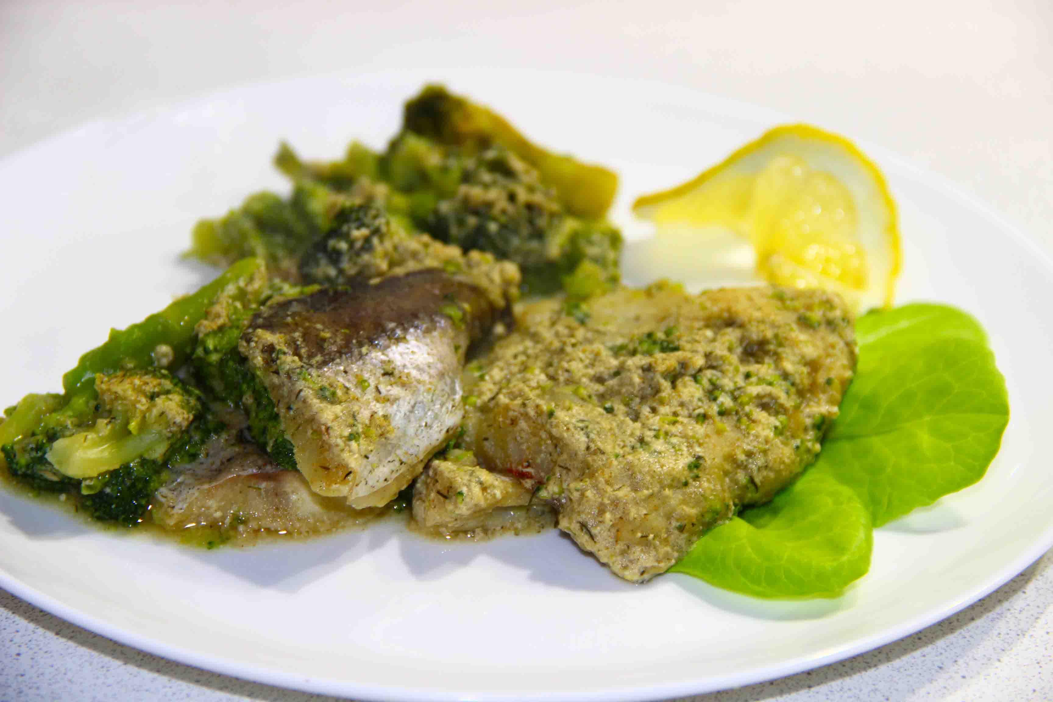 рыба запеченная в сливочном соусе