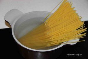 спагетти варим