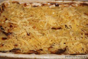 Картофель с грибами запеченные в сметане