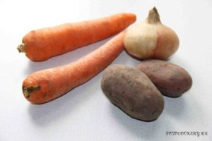 Картофельно-морковный крем-суп
