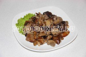 жареные лесные грибы 2