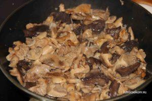 Жареные лесные грибы