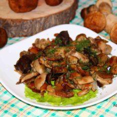 лесные грибы жареные