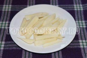 картофель бруски