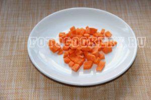 морковь кубики