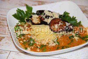 Паста Алла Норма (Паста с баклажанами в томатном соусе)