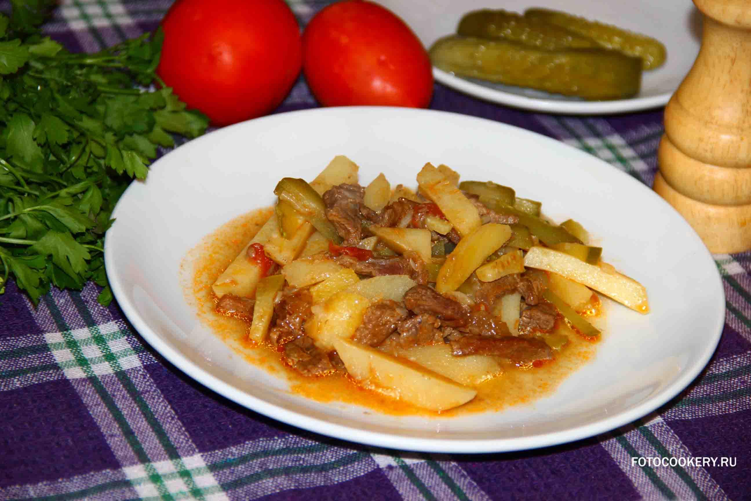 Рецепт приготовления азу из говядины пошаговое фото