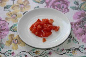 Омлет с помидорами и колбасой в духовке