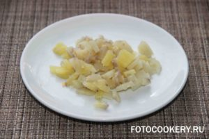 картофель вареный мелко