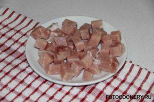 свинина кубики