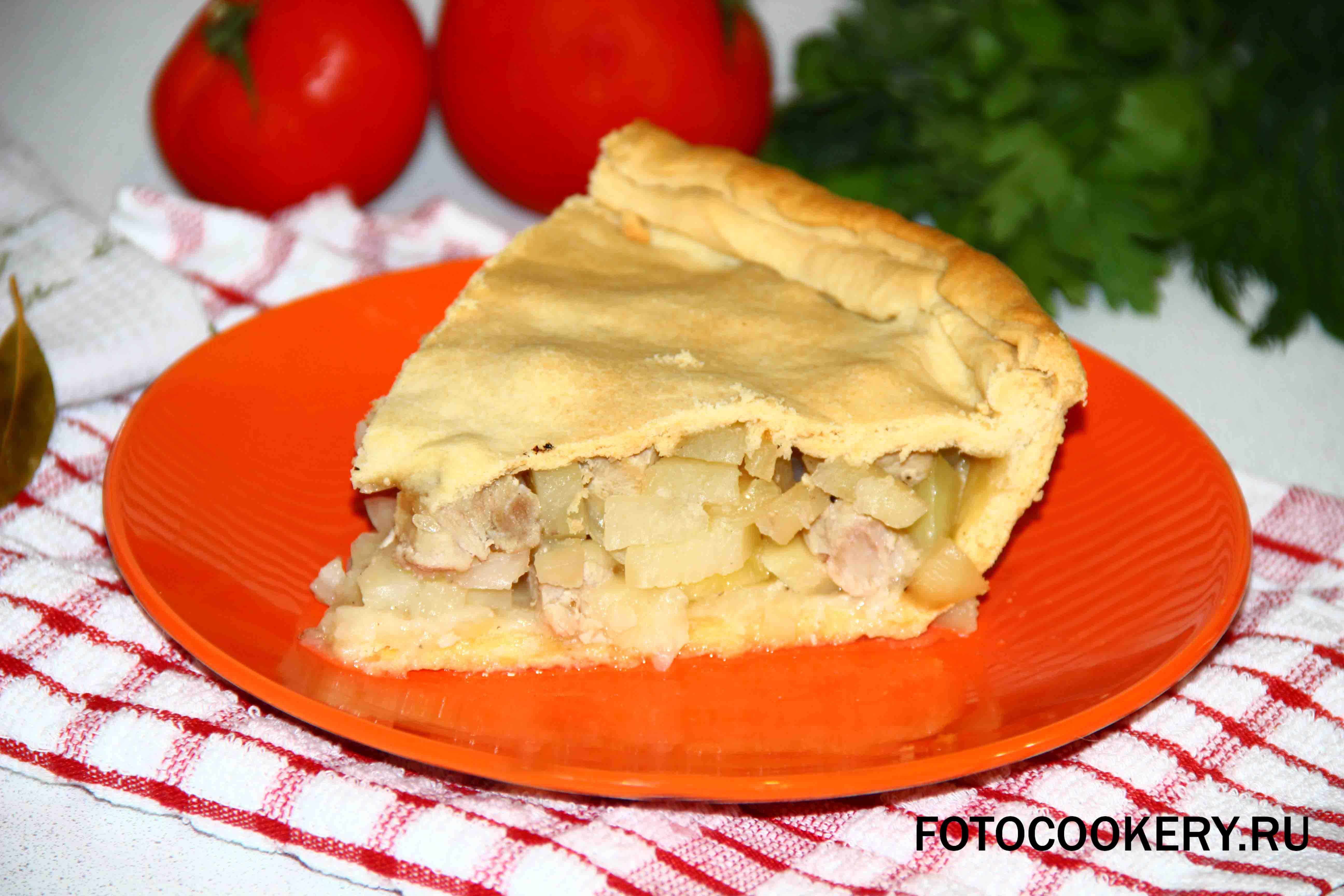 Курник с картофелем и курицей рецепт выпечка и десерты