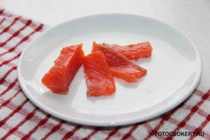 красная рыба кусочки