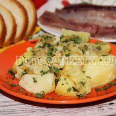 отварной картофель с жареным луком 2