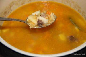 Суп гороховый с говядиной в мультиварке