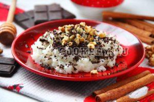 рисовая каша с орехам и шоколадом