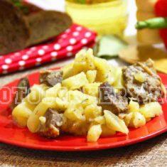 картошка тушеная с уткой