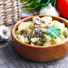 жаркое из картофеля с грибами