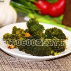 брокколи с чесноком