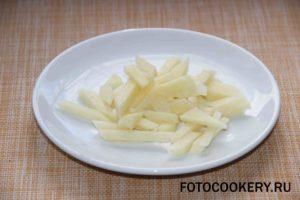картофель брусочки