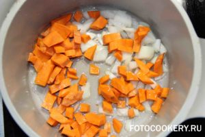 Овощной суп-пюре с брынзой