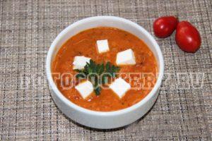 овощной суп с брынзой