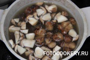 лесные грибы варим подберезовики