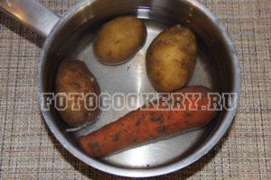 картофель морковь варим