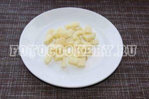 картофель мелко