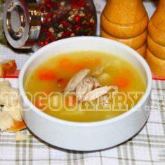 Суп рисовый с курицей