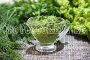Зеленый соус (Соус из свежей зелени)