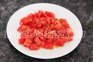 сочные помидоры кубики