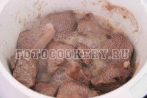 мясо крупно телятина тушим