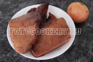 Печеночный гриб жареный с луком